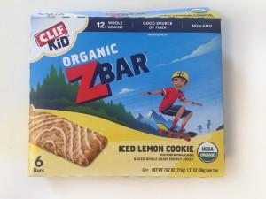 Iced Lemon Cookie Clif Z Bar box