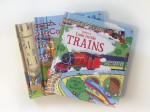 Usborne Look Inside lift the flap books Trains Construction Sites Castles