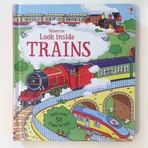 Look Inside Trains flap to lift book for kids