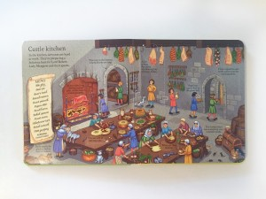 Look Inside a Castle flap book from Usborne