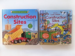 Lift and Look Construction Sites next to Look Inside Construction Sites from Usborne