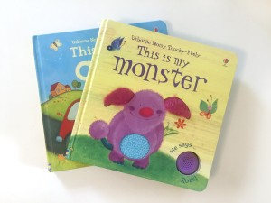 Usborne noisy touchy feely books This is my monster This is My Car with noise button
