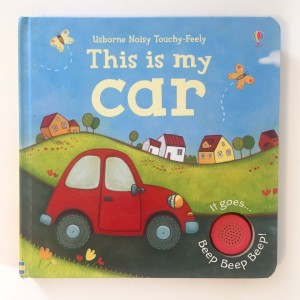 Usborne Noisy Touchy Feely books This is my Car book with sound button beep beep beep