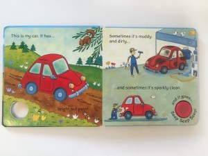 Inside This Is My Car noisy touch and feel book by Usborne bright red paint