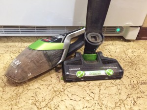 Bissell Bolt stick and handheld vacuum shown seperated