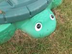 Little Tikes Turtle Sandbox on grass