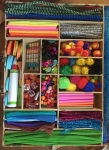 Kid Made Modern Art Kit crazy crafts case art supplies sorted into suitcase with compartments