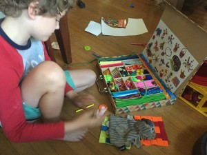 Kid Made Modern art kit crazy crafts case with child creating things