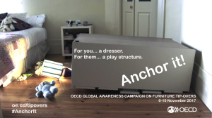 Dresser tipped over in child's room courtesy of OECD global awareness campaing