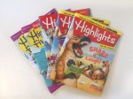 Highlights and High Five magazines fanned in stack