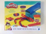 Play-Doh basic fun factory set with press and shape attachments in red