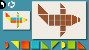 Tangram Mania by Bacarox airplane puzzle screenshot