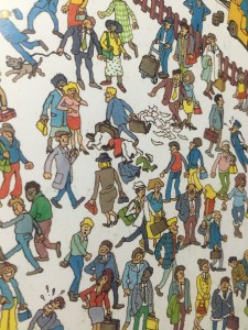 Close up from Where's Waldo book