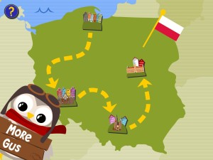 Gus on the Go Polish map screen shot