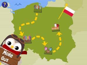 Gus on the Go Polish map screen shot