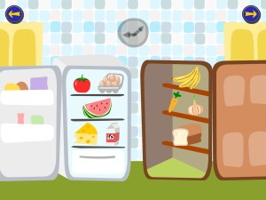 Food vocabulary builder from Gus on the Go app