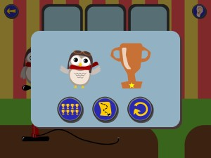 Gus on the Go trophy screen