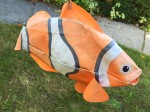 Clownfish swimming windsock yard art kite