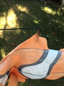 Clownfish windsock hook on fin
