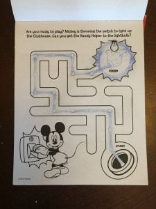 Maze inside Mickey Mouse Imagine Ink activity book