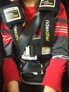 Ride Safer Harness in use shown close up