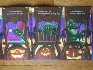 Page from Halloween Night picture book by Marjorie Dennis Murray