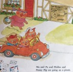 First page excerpt from Richard Scarry's Cars and Trucks and Things That Go picture book