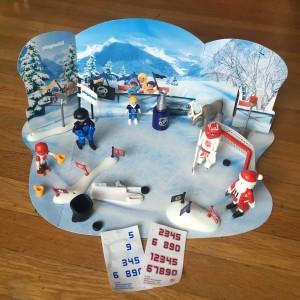 NHL Playmobil 2016 Advent calendar set up scene