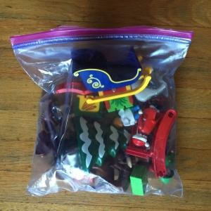 Playmobil 123 advent calendar clear plastic ziploc bag