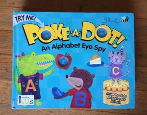 Poke-a-dot Alphabet Eye Spy I Spy board book with popping dots buttons