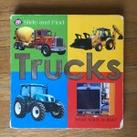 Slide and find trucks board book Roger Priddy bright baby books