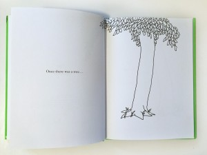 The opening page of The Giving Tree by Shel Silverstein children's picture book classic