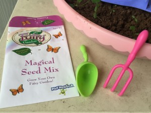 My fairy garden unicorn paradise magical seed mix packet and tiny gardening tools