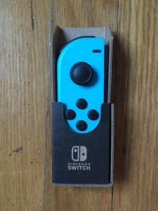 Nintendo switch labo controller in cardboard cutout