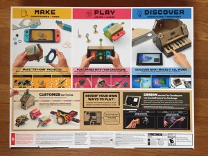 Nintendo Switch Labo variety pack back of box