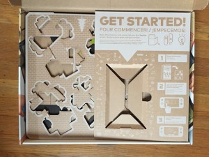 Inside Nintendo Labo Variety pack get started instructions and cardboard punched out