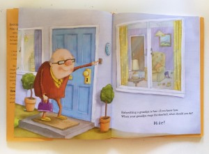 Opening pages of How to Babysit a Grandpa picture book