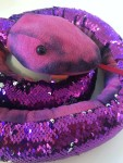 Adventure Planet sequinimals pink and purple reversible sequin stuffed snake