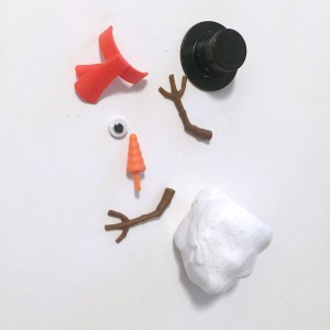 Mr. Frost melting snowman white putty pieces