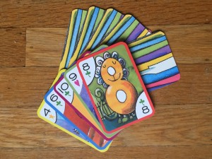 eeBoo crazy eights card game cards laid down face up and down with eight on top
