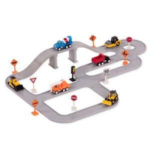 Driven Pocket Series Toy Construction Bridges Set at Target with tiny steam roller dump truck crane cement mixer bulldozer front back loader