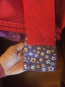 Comparing kid's pant lengths to see which ones fit