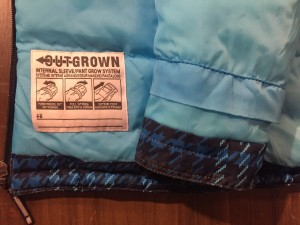 Columbia Kids outgrown system label snow clothes jacket
