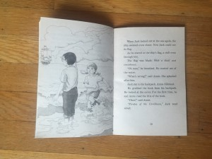 Magic Tree House book four 4 illustration and page text