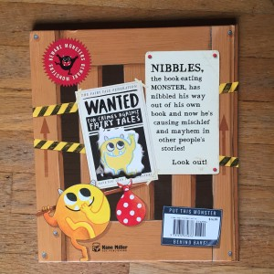 Nibbles the book monster back of book