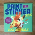 Paint by Sticker Kids Zoo Animals activity book numbered stickers
