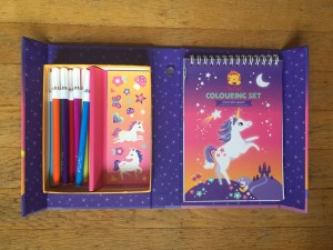 Unicorn Magic colouring set Tiger Tribe coloring travel compact box markers pages stickers