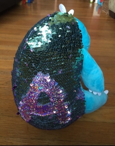 Weighted sensory reversible sequin pets Creativity for Kids blue speedy the sloth