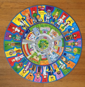 Infantino When I Grow Up alphabet jobs puzzle circular shaped ring