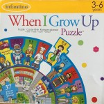 Infantino Alphabet Jobs When I Grow Up Puzzle circle shaped